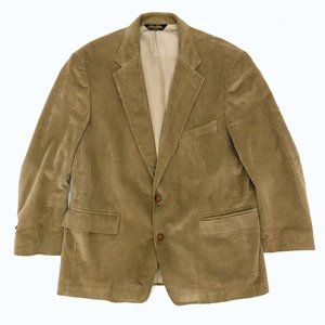 BROOKS BROTHERS Men's Tan Corduroy Blazer Jacket